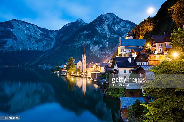 Hallstatt at dusk