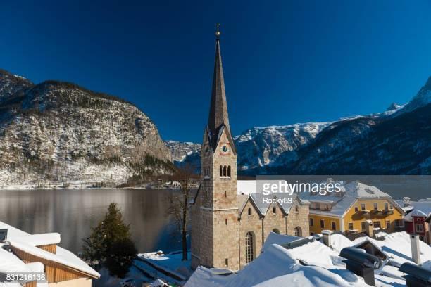 Hallstatt, Österreich, im Winter