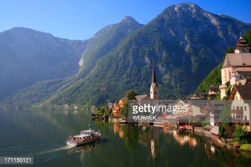 Hallstatt, Austria, lake and waterfront