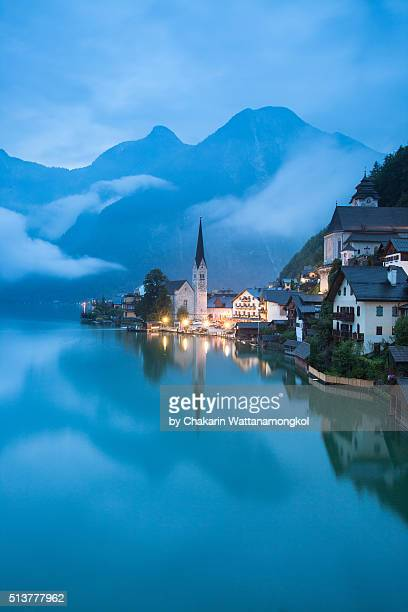 Hallstatt in the Cloudy Morning (Vertical Image)