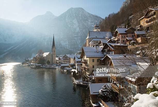 Hallstatt in winter morning