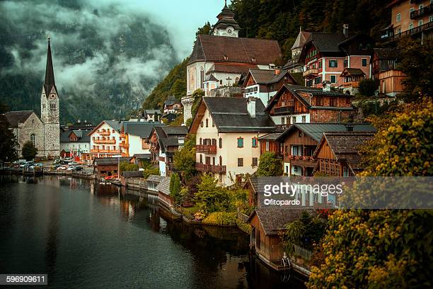 Hallstatt village and lake