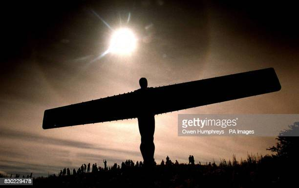A Halo surrounds the Angel of the North near Gateshead during the eclipse as watchers on the ground enjoyed a spectacular experience as the partial...