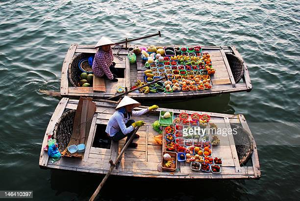 Halong bay fruit boat vendors