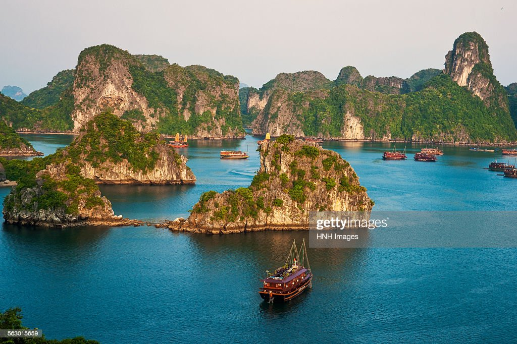 Halong bay in late evening