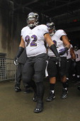 Haloti Ngata of the Baltimore Ravens takes the field for the game against the Cincinnati Bengals at Paul Brown Stadium on December 29 2013 in...