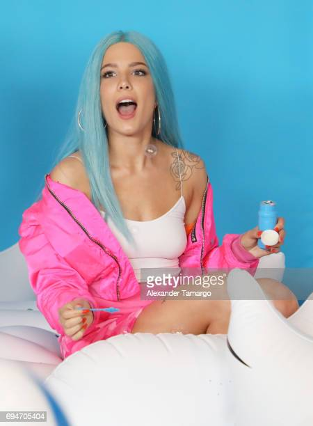 Halsey attends iHeartSummer '17 Weekend by ATT at Fontainebleau Miami Beach on June 10 2017 in Miami Beach Florida