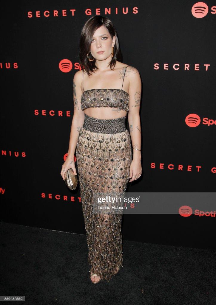 Halsey attends Spotify's Inaugural Secret Genius Awards on November 1, 2017 in Los Angeles, California.