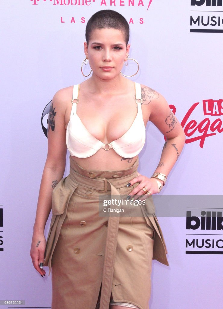 Halsey attends the 2017 Billboard Music Awards at T-Mobile Arena on May 21, 2017 in Las Vegas, Nevada.