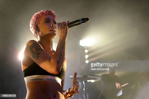 Halsey performs at the Gothic Theater in Denver Colorado on November 9 2015
