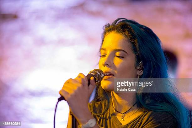 Halsey performs at the Style / Trax by ShopStyle during the 2015 SXSW Music Film Interactive Festival at Swifts Attic on March 16 2015 in Austin Texas