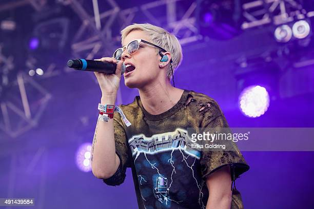Halsey performs during Austin City Limits Festival at Zilker Park on October 4 2015 in Austin Texas
