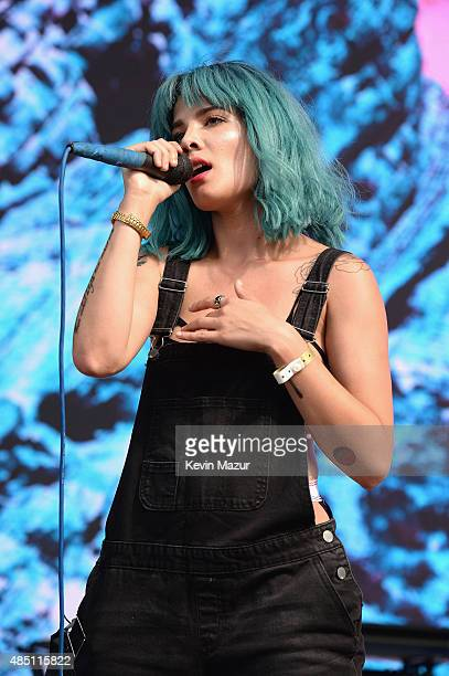 Halsey performs during Billboard Hot 100 Festival Day 1 at Nikon at Jones Beach Theater on August 22 2015 in Wantagh New York