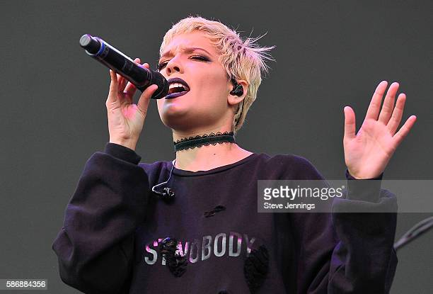 Halsey performs on Day 2 of Outside Lands Music and Arts Festival at Golden Gate Park on August 6 2016 in San Francisco California