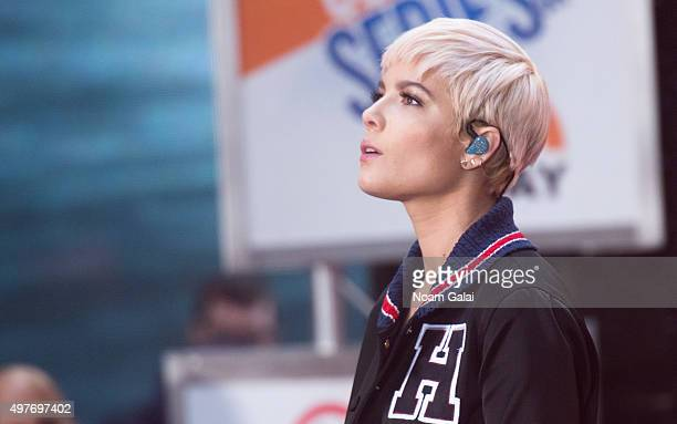 Halsey performs on NBC's 'Today' at NBC's TODAY Show on November 18 2015 in New York New York