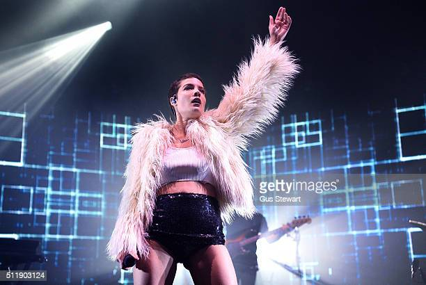 Halsey performs on stage at the O2 Academy Brixton on February 23 2016 in London England