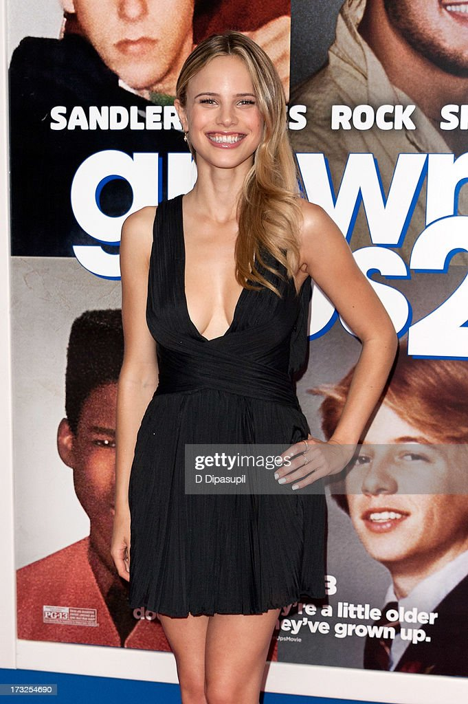 <a gi-track='captionPersonalityLinkClicked' href=/galleries/search?phrase=Halston+Sage&family=editorial&specificpeople=7986408 ng-click='$event.stopPropagation()'>Halston Sage</a> attends the 'Grown Ups 2' New York Premiere at AMC Lincoln Square Theater on July 10, 2013 in New York City.
