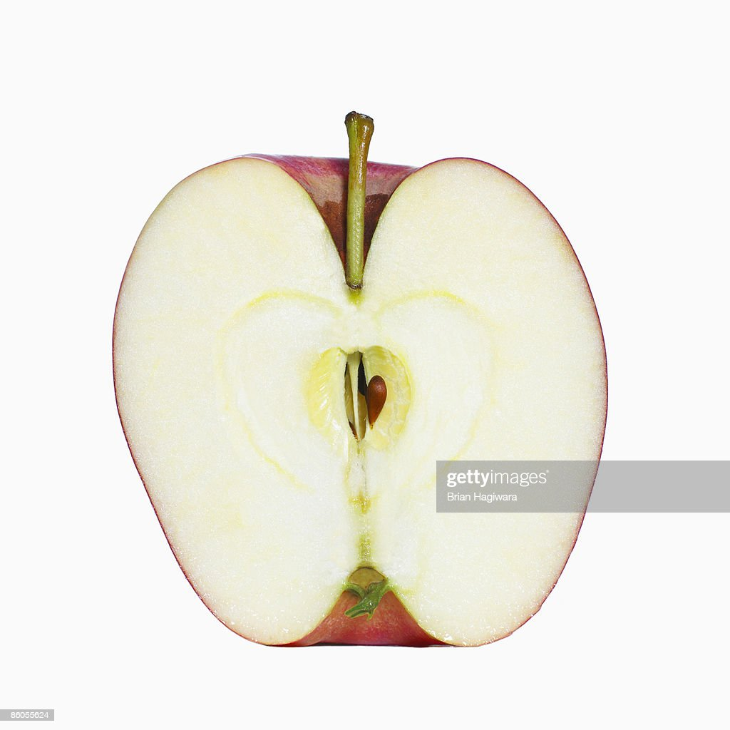Halved apple