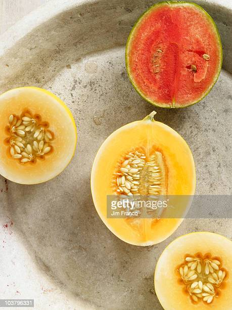 Halved melons