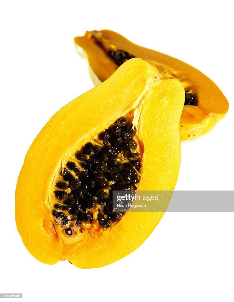 Halved papaya : Stock Photo