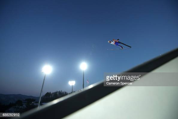 Halvor Egner Granerud of Norway jumps during trainining for the 2017 FIS Ski Jumping World Cup test event For PyeongChang 2018 at Alpensia Ski...