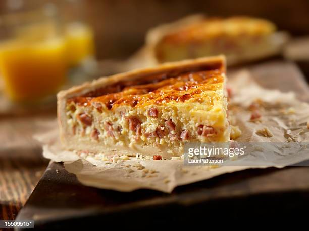 Ham and Cheese Quiche with Orange Juice