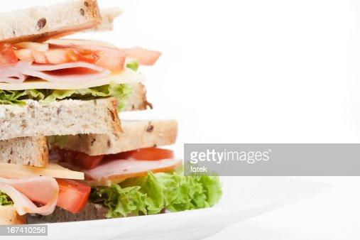 Sandwich mit Schinken und Käse : Stock-Foto
