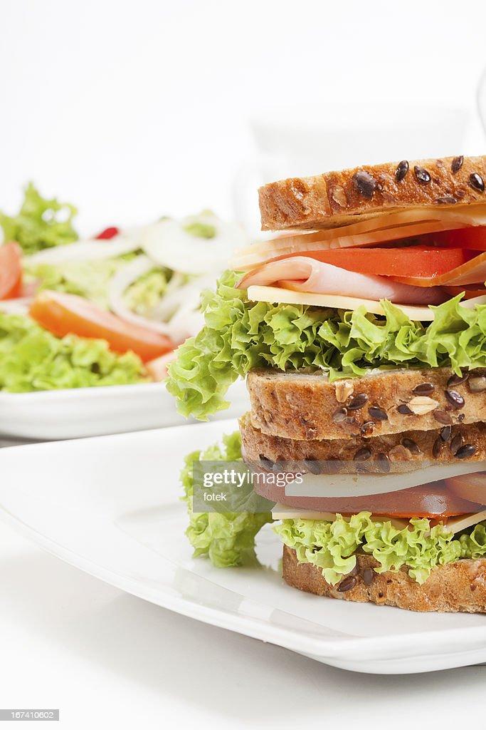 Ham and cheese sandwiches : Stockfoto