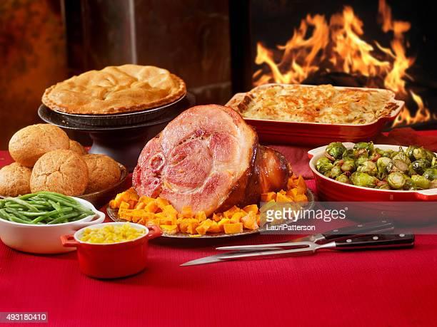 Schinken Abendessen mit allen Zutaten