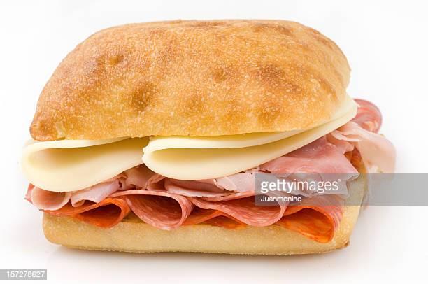 Ham, Salami, Chorizo and Cheese sandwich