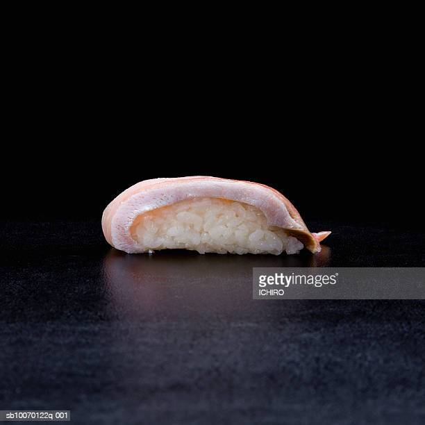 Hamachi Nigiri Sushi on black background