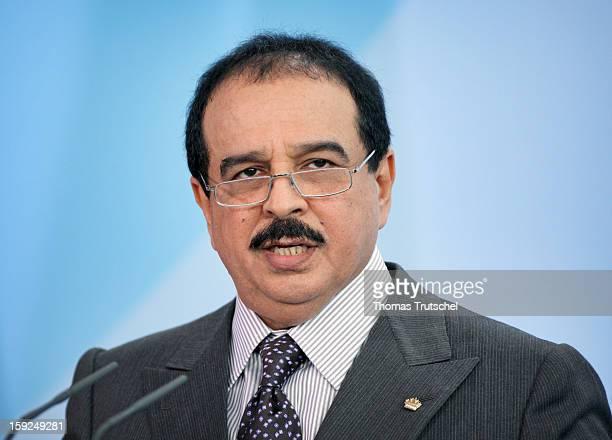 Hamad bin Isa Al Khalifa King of Bahrain October 28 2008 in Berlin Germany