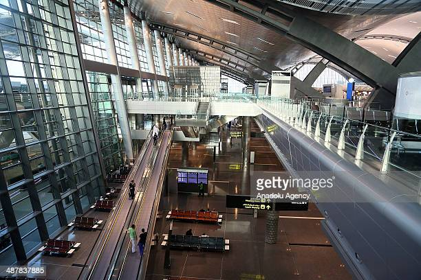 Hamad International Airport in the Qatari capital opens following years of delays on May 01 2014 with a ceremonial Qatar Airways flight landing from...