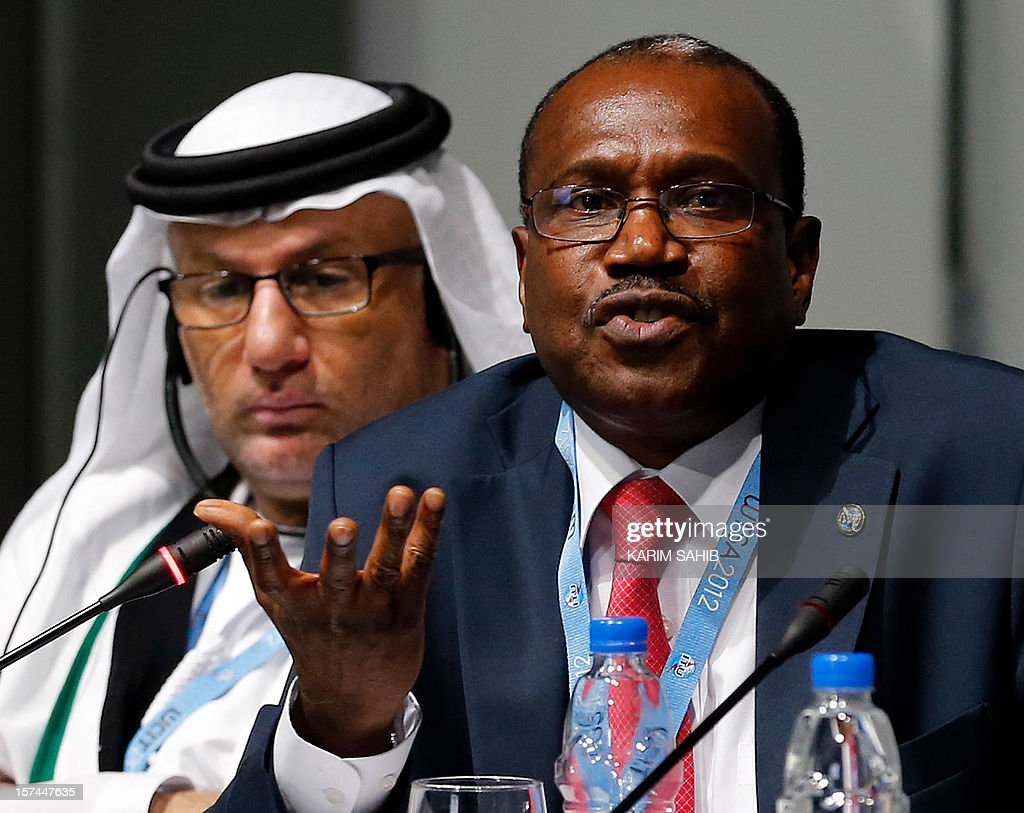 Hamadoun Toure, Secretary-General of the International Telecommunication Union (ITU), speaks during a press conference at the World Conference on International Telecommunications (WCIT-12) in Dubai, on December 3, 2012. The conference will review the current International Telecommunications Regulations (ITRs), which serve as the binding global treaty outlining the principles which govern the way international voice, data and video traffic is handled, and which lay the foundation for ongoing innovation and market growth. AFP PHOTO/KARIM SAHIB