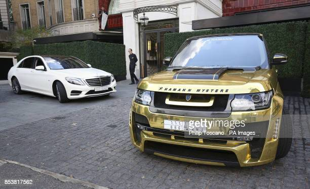 A Hamann Range Rover outside the The Wellesley hotel in Knightsbridge in London as August sees hundreds of superrich Middle Easterners flying in from...