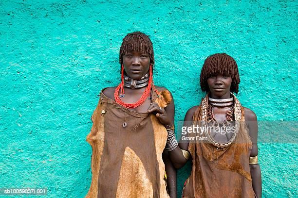 Hamar tribe women, portrait