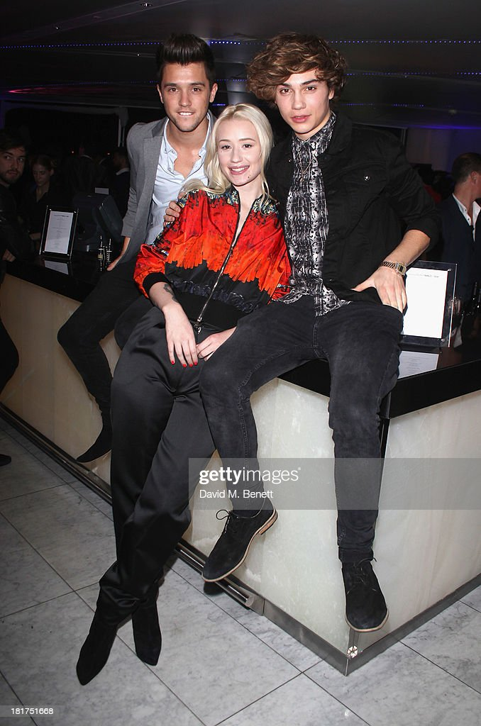 JJ Hamblett and George Shelly of Union J attend the Samsung Galaxy Gear and Note 3 launch event at the Radio Rooftop Bar, Hotel Me London on September 24, 2013 in London, England.