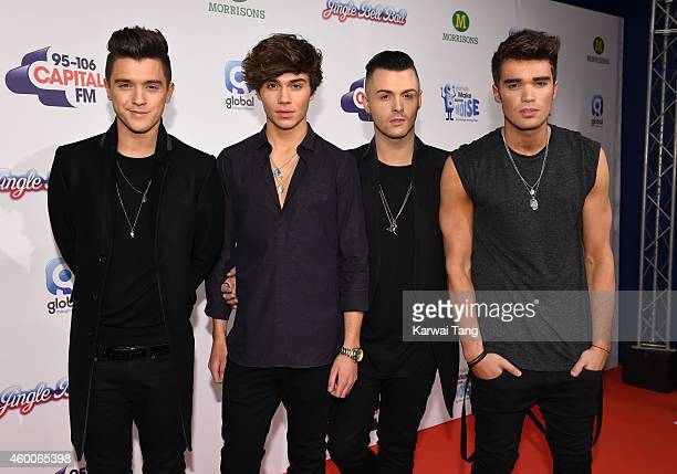 JJ Hamblett George Shelley Jaymi Hensley and Josh Cuthbert of Union J attend the Jingle Bell Ball at 02 Arena on December 6 2014 in London England