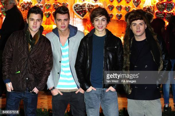 JJ Hamblett Josh Cuthbert George Shelley and Jaymi Hensley of Union J arrive at the opening of Winter Wonderland in Hyde Park London