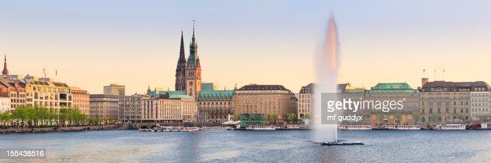 Hamburg Alster Lake panorama