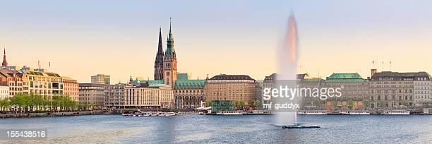 Hamburg lago Alster panorama