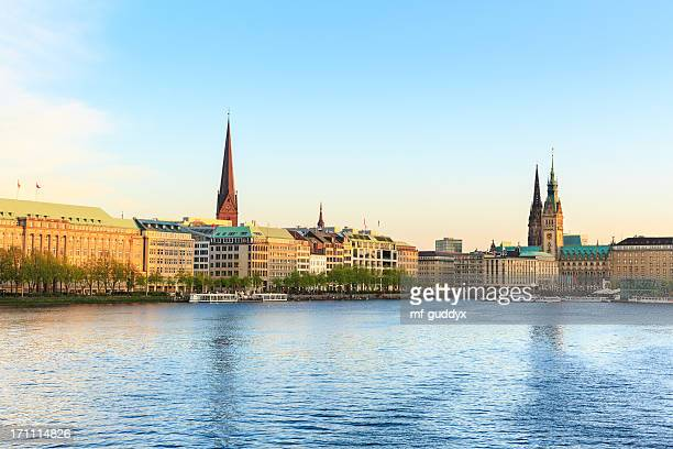 Hamburg Alster Lake, Town hall