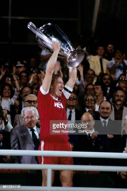 SV Hamburg captain Horst Hrubesch lifts the European Cup after his team's 10 victory