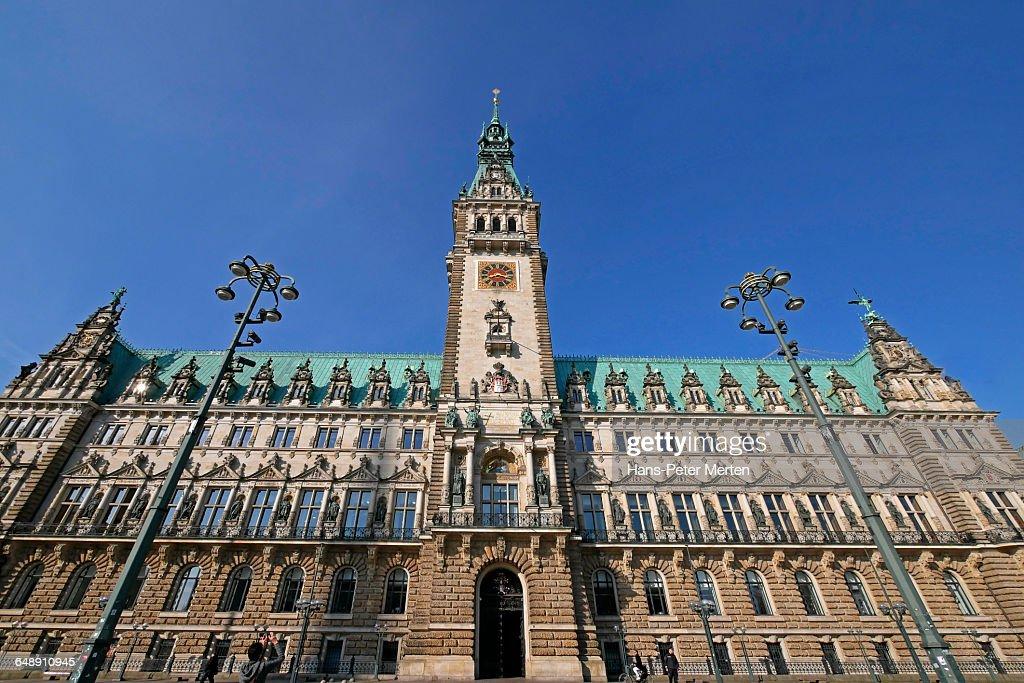 Hamburg, Cityhall at Rathausmarkt