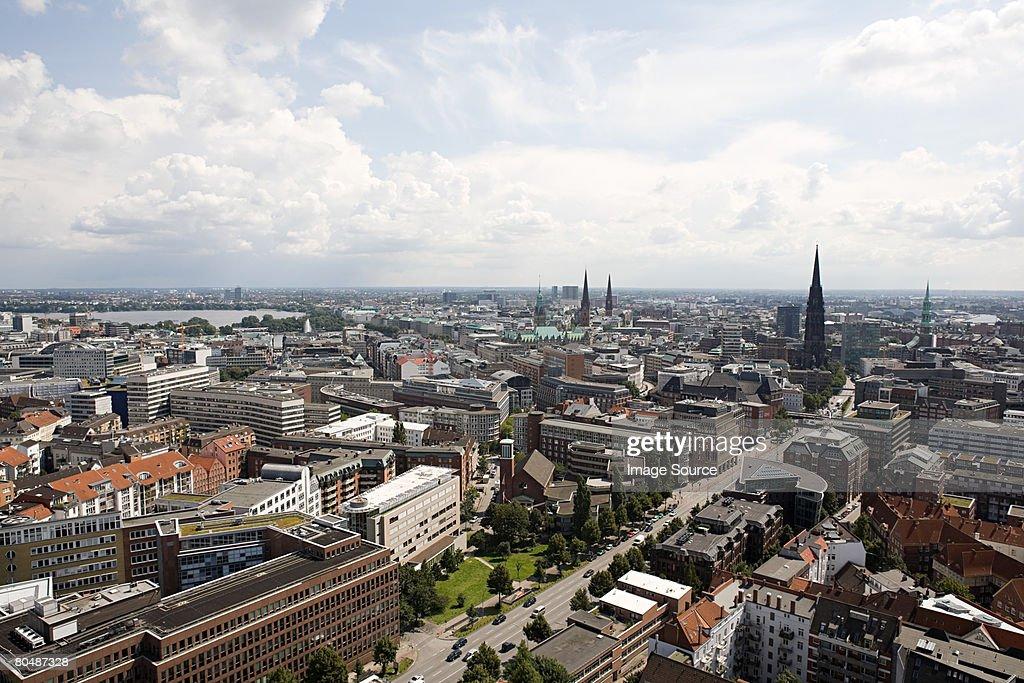 Hamburg cityscape : Stock Photo