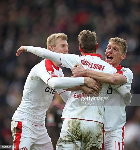 Hamburg Germany 20 November 2016 2 Bundesliga 13 Spieltag FC St Pauli vs Fortuna Duesseldorf Jubel vl Julian Koch Torschuetze Julian Schauerte und...