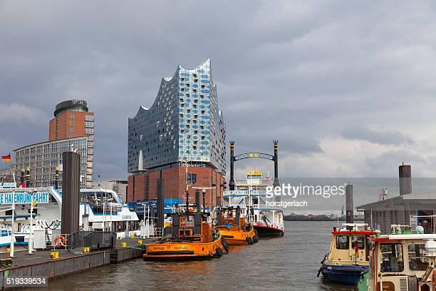 Hamburg, Deutschland. Hafen und die Elbphilharmonie