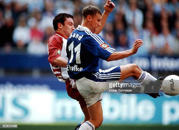 1 BUNDESLIGA 00/01 Hamburg HAMBURGER SV FC SCHALKE 04 20 Ingo HERTZSCH/HSV Ebbe SAND/SCHALKE