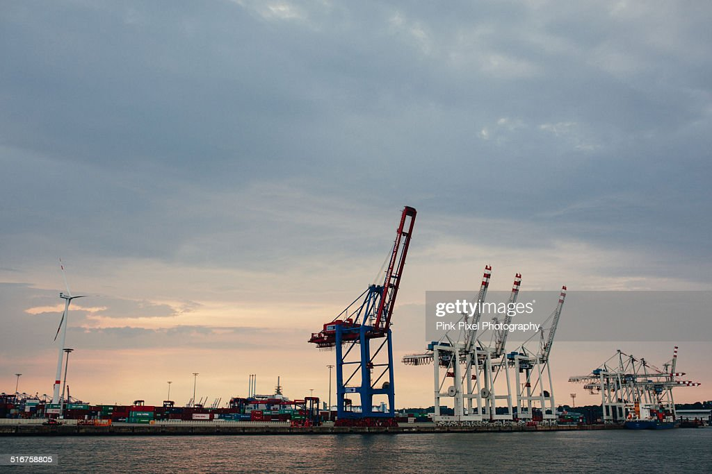 Hamburg Harbor Docks