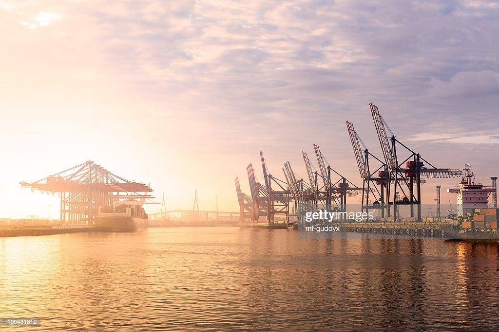 Hamburg Harbour Container Terminal